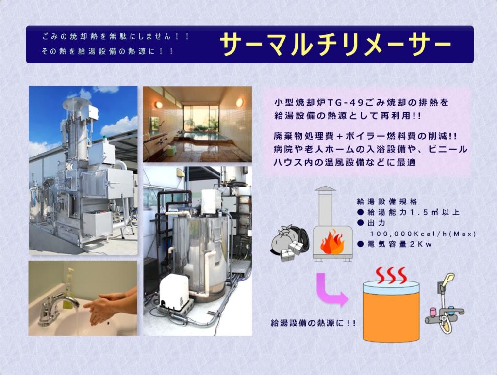 サーマルチリメーサー ゴミ焼却熱を給湯設備の熱源に再利用
