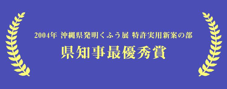 2004年 沖縄県発明くふう展 特許実用新案の部 県知事最優秀賞